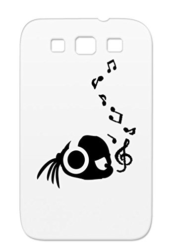 Cute Girl Music Notes Side Face Headphones Miscellaneous Music Note Kid Woman Pony Hair Black Girl Listen To For Sumsang Galaxy S3 Protective Hard Case