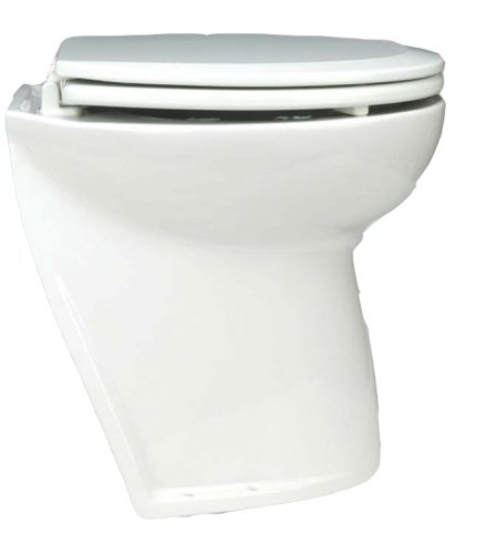 Jabsco 58220-1024 Marine Marine Deluxe Flush Slant Back Electric Toilet with Intake Pump (24-Volt, 15-Amp)