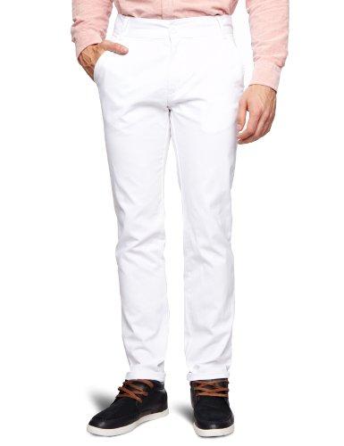 Bellfield MTRS-11214OW Slim Men's Trousers Optic White W36 INxL32 IN