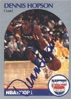 Dennis Hopson New Jersey Nets 1990 Hoops Autographed Hand Signed Trading Card. by Hall+of+Fame+Memorabilia