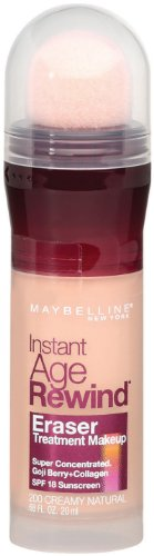 Maybelline New York Instant Age Rewind Eraser Treatment Makeup, Creamy Natural 200, 0.68 Fluid Ounce