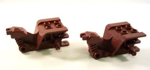 """2 Stück LEGO """"Dreirad Chassis"""" in Neu-Braun (STAR WARS Speeder-Bike)."""