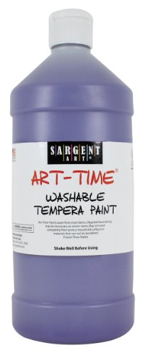 Sargent Art 22-3542 32-Ounce Art Time Washable Tempera, Violet