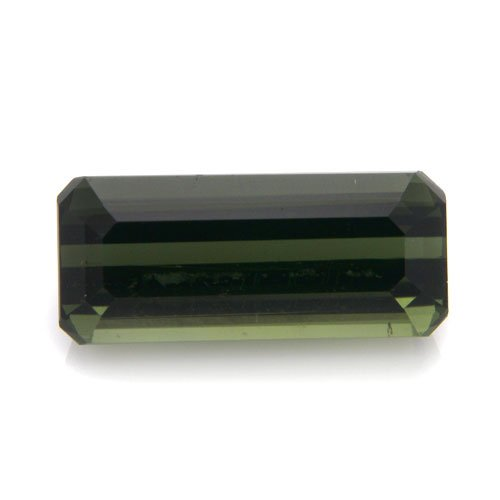 Natural Africa Green Tourmaline Loose Gemstone Emerald Cut 12*5mm 3.40cts