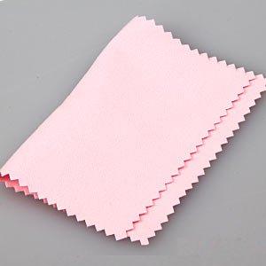 Anti Tarnish Silver Polishing Cloth For Silver Jewelry 11 X 15 cm in Pink