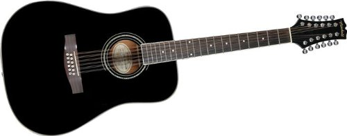 mitchell guitars mitchell md100s12ebk 12 string dreadnought acoustic electric guitar black from. Black Bedroom Furniture Sets. Home Design Ideas