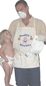 "Daddy's Diaper ""Doodie"" Apron - Unique New Dad Gag Gift- Baby Shower Gift Idea"