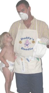 Daddy's Diaper Changing Apron - Unique New Dad Gag Gift- Baby Shower Gift Idea