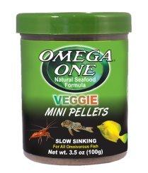 Omega one veggie mini pellets slow sinking for Omega one fish food