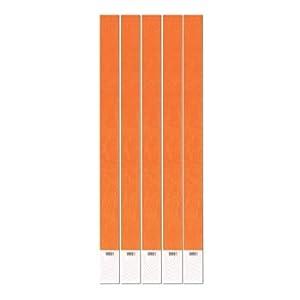 Tyvek Wristbands (neon orange) Party Accessory  (1 count) (100/Pkg)