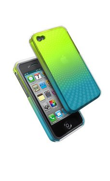 iFrogz Yellow & Green DUO Fusion Frosted Swerve Case for Apple iPhone 4