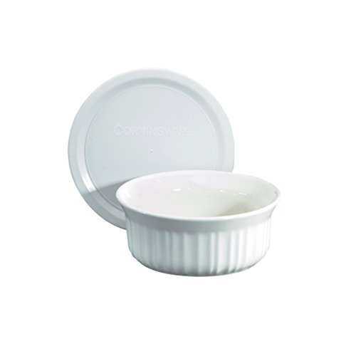CorningWare French White Pop-Ins 16-Ounce Round Dish with Plastic Cover (Small Oven Bowls compare prices)