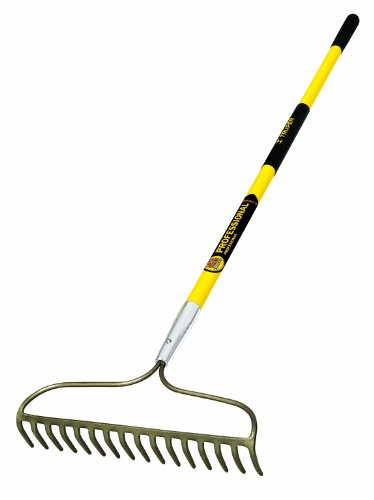 Truper 31380 Tru Pro 60-Inch 16 Teeth Forged Bow Rake, Fiberglass Handle, 10-Inch Grip