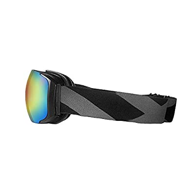OutdoorMaster Ski & Snowboard Goggles with Detachable Dual Layer Anti-Fog Lens