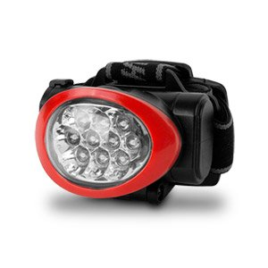 New Camelion Ultra Bright 10 Led Headlamp (Black/Red)