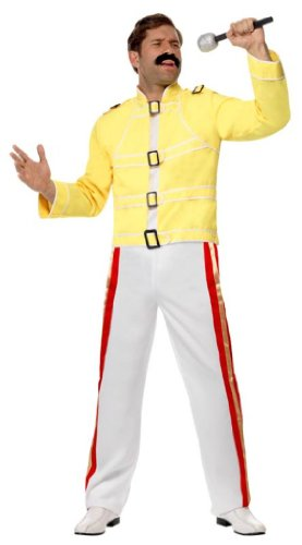Men's Freddie Mercury on Stage 80s Costume. Includes jacket and pants - medium or large.