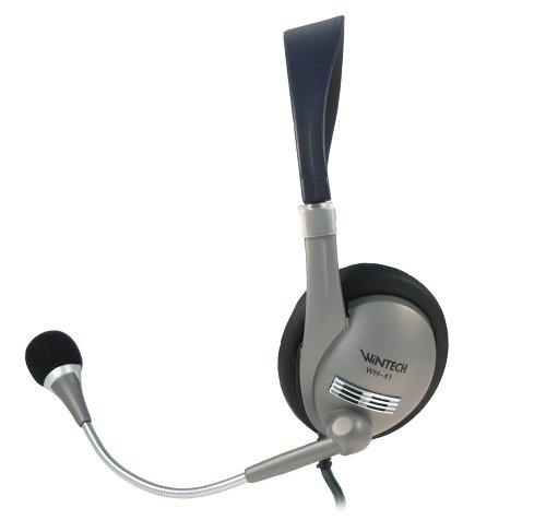 WinTech Stereo-Headset mit Kopfbügel für hohen Tragekomfort