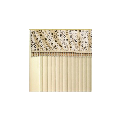 Silky Bombay Design Curtain Valance Color: Gold