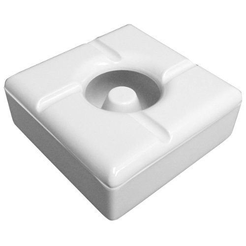 Windproof Square Melamine Ashtray White | Covered Ashtray, Wind Proof Ash Tray, Cigarette Ashtray