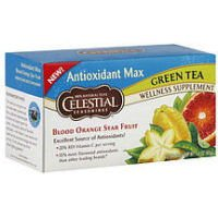 Celestial Seasonings Antioxidant Max Green Tea Wellness Tea Blood Orange Star Fruit -- 20 Tea Bags
