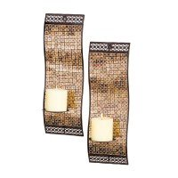 San Miguel Kingsway Candle Holder Sconce Wall Lighting - Set of Two