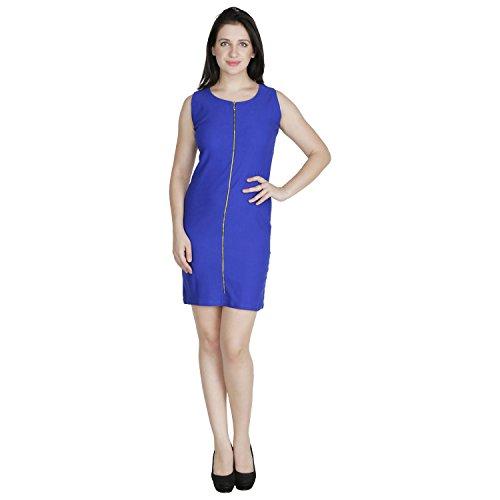 RAMPWALK Cobalt Poly Lycra M Western Wear Party Dresses for Women
