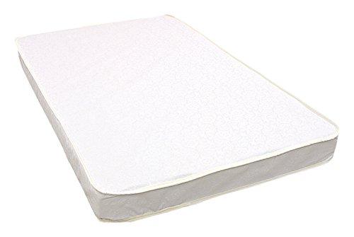 L A Baby Compact Porta Crib Pad Laminate Cover, White