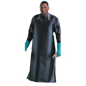"Ansell CPP 56-402 Neoprene Lightweight Apron, 35"" x 45"", Black, Case of 12"