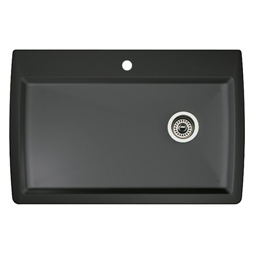 Check Out This Blanco 440194 Diamond Super Single Bowl Kitchen Sink, Anthracite Finish