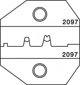 paladin tools 2097 crimpall 1300 8000 series die for d sub crimper. Black Bedroom Furniture Sets. Home Design Ideas