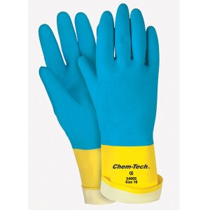 R3 Safety Latex Glove, Neoprene Over, 28ML, Large, Blue (RTS5409S) Category: Latex Gloves