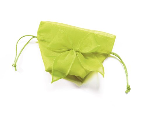 Weddingstar-Organza-Drawstring-Bags-with-Decorative-Bow-Lime-Juice