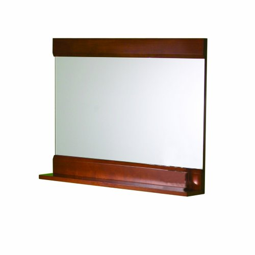 Decolav 9818-CW Solid Wood Frame Mirror with Display Integrated Shelf, Cherry