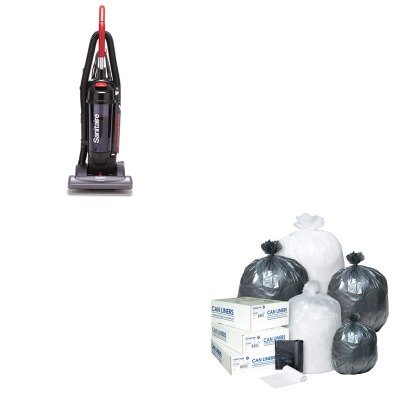 Kiteuksc5845Bibss303710N - Value Kit - Sanitaire Bagless/Cyclonic Commercial Upright Vacuum (Euksc5845B) And Ibs S303710N High Density Commercial Coreless Roll Can Liners, Natural (Ibss303710N) front-101016