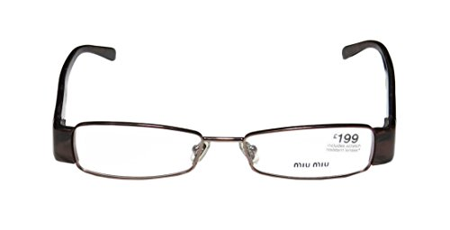 [Miu Miu Vmu63e Womens/Ladies Designer Full-rim Eyeglasses/Eyeglass Frame (50-16-135, Brown /] (Full Plastic Iron Man Costume For Sale)