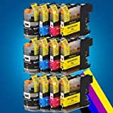 Odyssey Supplies® - Compatible ink cartridges for BROTHER DCP-J132W, DCP-J152W, DCP-J552DW, DCP-J752DW, DCP-J4110DW, MFC-J470DW, MFC-J650DW, MFC-J870DW, MFC-J4410DW, MFC-J4510DW, MFC-J4610DW, MFC-J4710DW, MFC-J6520DW, MFC-J6720DW, MFC-J6920DW printers, L