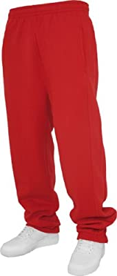 Urban Classics Men's TB014B Sweatpants L Red