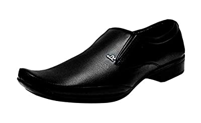 Kraasa Black Shoes for Men (Material: Patent Leather) K-1018-Black