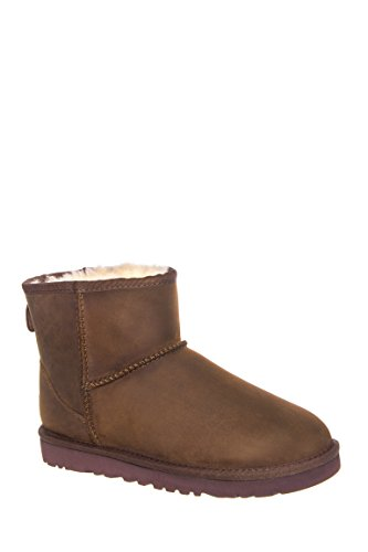 UGG Mini Fur Boots in Chestnut
