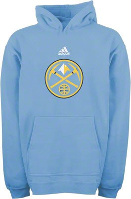 Denver Nuggets adidas Youth Primary Sewn On Logo Hooded Sweatshirt by adidas