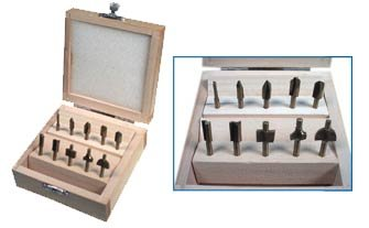 SE 10 pc. Mini Router Bits Set (For Dremel Tools)