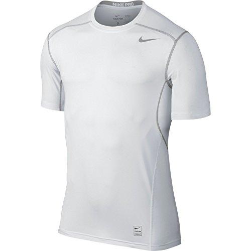 Men's Nike Pro Hypercool Top Short-sleeve Shirt (White, XX-Large)