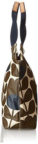 Orla Kiely Matt Laminated Tulip Stem Print Classic Zip Shoulder Bag,Bark,One Size
