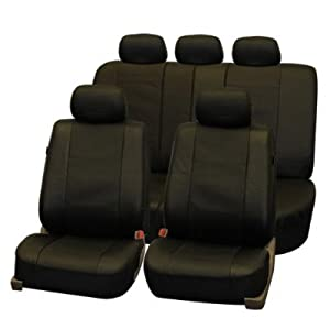 FH-PU007114 Deluxe Leatherette Car Seat Covers, Airbag compatible and Rear Split from FH