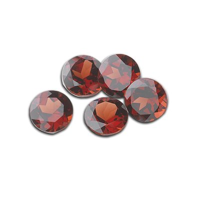 7.55 Cts of 7x7 mm Round Matching Loose Garnet (5 pcs set) Gemstones
