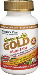 Natures Plus Source Of Life Gold Mini-Tabs Ultimate Multi Vitamin - 180 Tablets