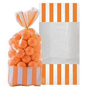Cellophane sacs douces - zeste d'Orange (Pack de 10)