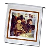 Florene Impressionism Art - Photo Of Manet Painting At Cafe - Flags - 12 x 18 inch Garden Flag