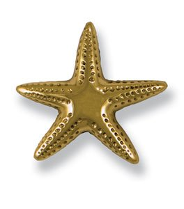 Michael Healy Designs MHR03 Starfish Doorbell Ringer, Brass