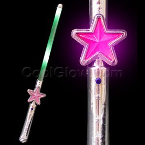 led light up star wand multicolor toys games. Black Bedroom Furniture Sets. Home Design Ideas